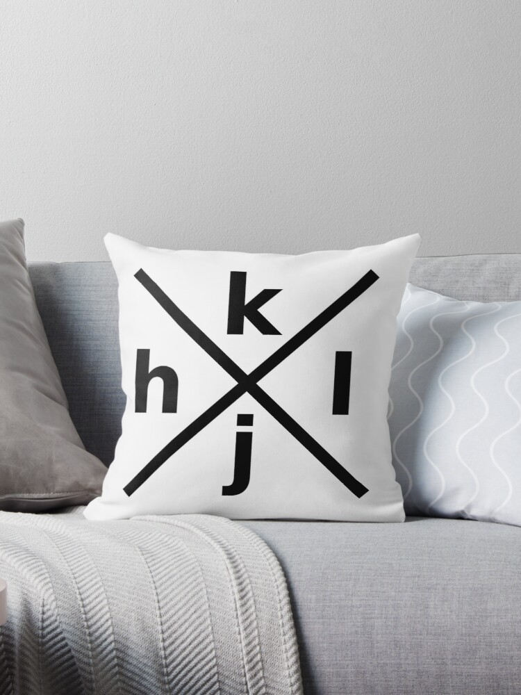 Hjkl Design For Programmers Using Vi Vim Black Graphic Throw Pillow By Ramiro Redbubble