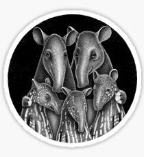Tapir Family | Illustration Sticker