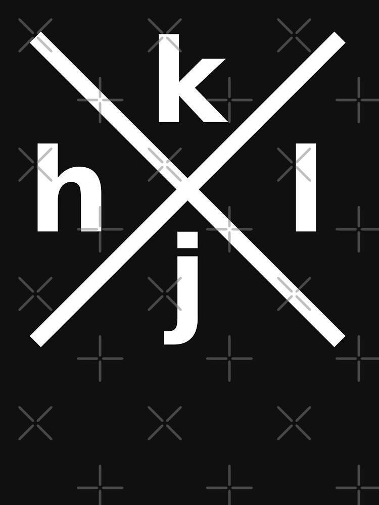 hjkl Design for Programmers Using vi/Vim - White Graphic by ramiro