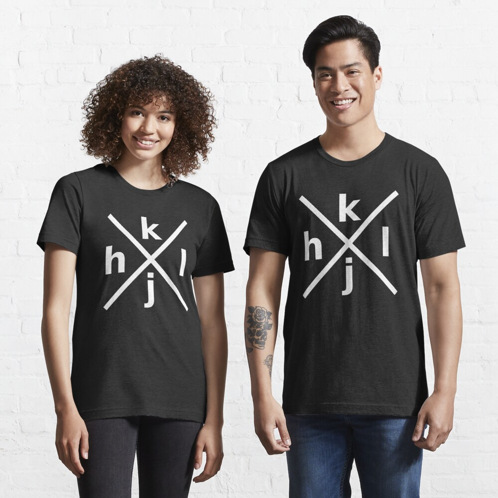 hjkl Design for Programmers Using vi/Vim - White Graphic Essential T-Shirt