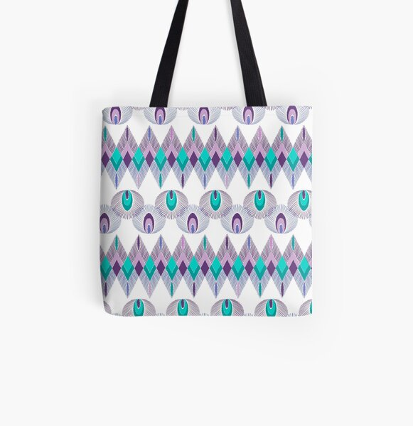Boho feathers  All Over Print Tote Bag