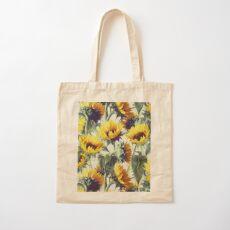 Sonnenblumen für immer Baumwolltasche