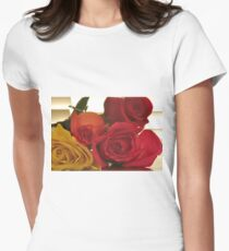 Four Colors of Roses, As Is Women's Fitted T-Shirt