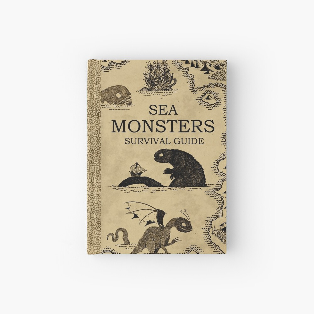 Sea Monsters Survival Guide Hardcover Journal