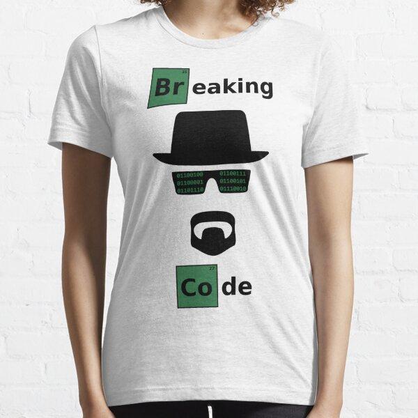 Breaking Code - Black/Green Parody Design for Hackers Essential T-Shirt