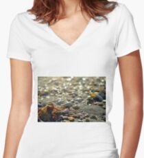 On the Beach Women's Fitted V-Neck T-Shirt