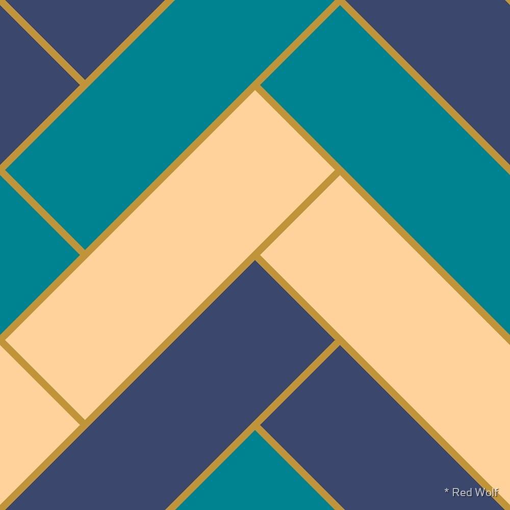 Geometric Pattern: Herringbone: Dream by * Red Wolf