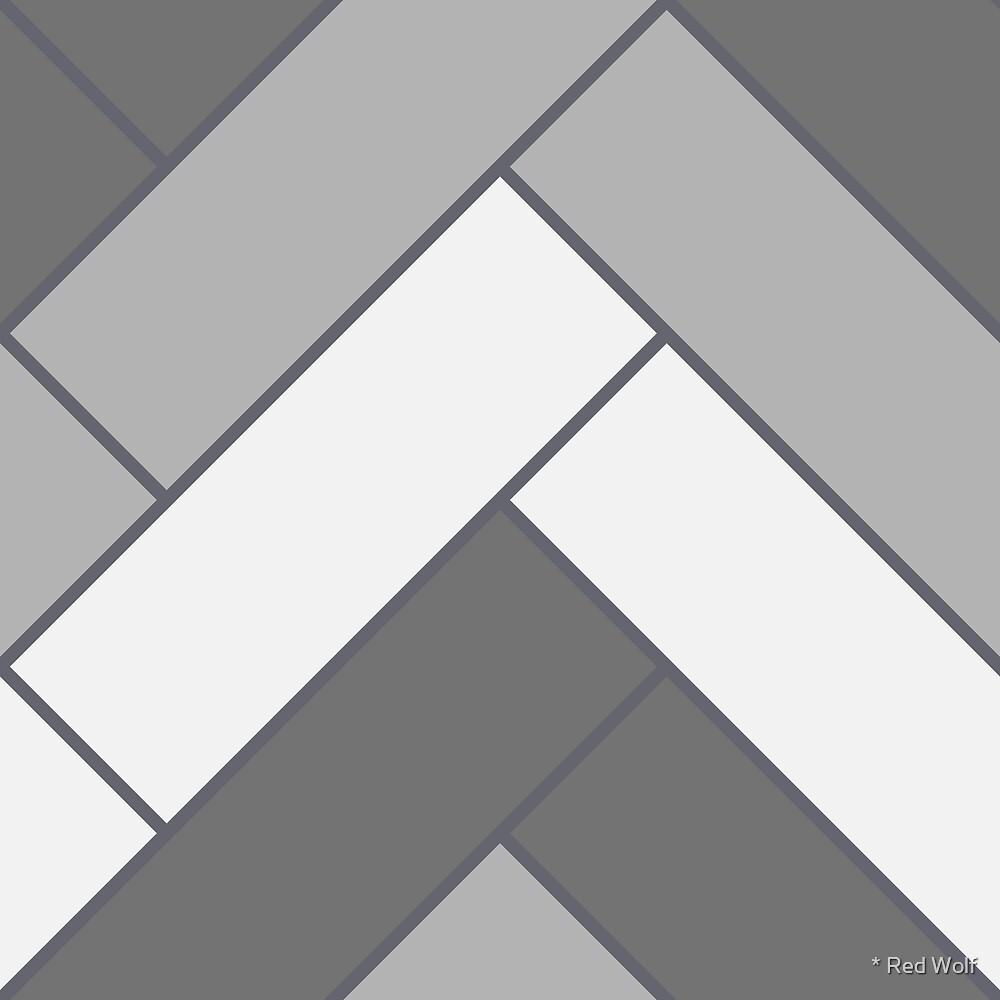 Geometric Pattern: Herringbone: Monochrome by * Red Wolf