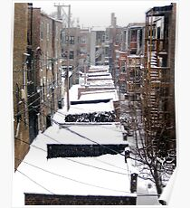 Back Yard Uban Winter Poster