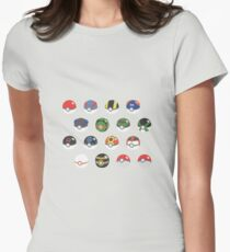 POKEBALLS SET Women's Fitted T-Shirt