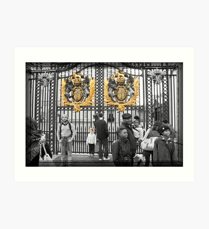 Golden Gates: Buckingham Palace, London. UK. Art Print