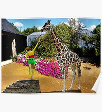The Sweet toothed Giraffe. Poster