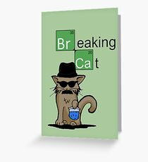 Breaking Cat  Greeting Card