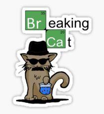 Breaking Cat  Sticker