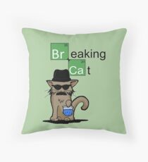 Breaking Cat  Throw Pillow