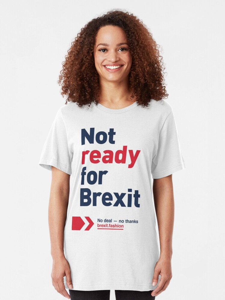 Alternate view of NDVH Not ready for Brexit Slim Fit T-Shirt