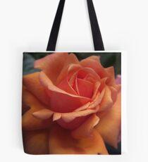 Orange Downton Abbey Rose Tote Bag