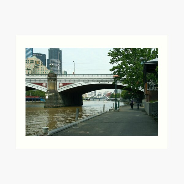 Princes Bridge, Melbourne Art Print