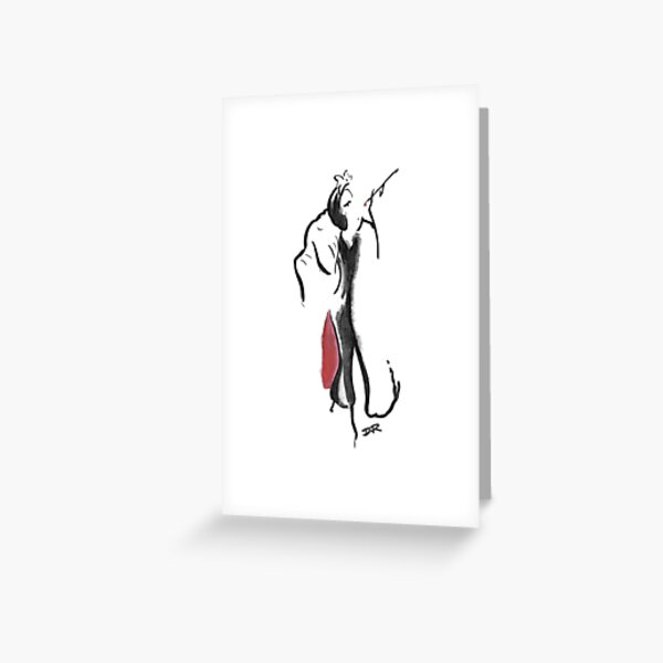 Where Pictures Shine - Cruella De Vil Greeting Card