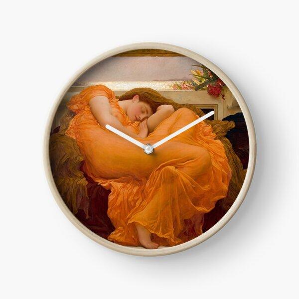 FLAMING JUNE - FREDERIC LEIGHTON Clock