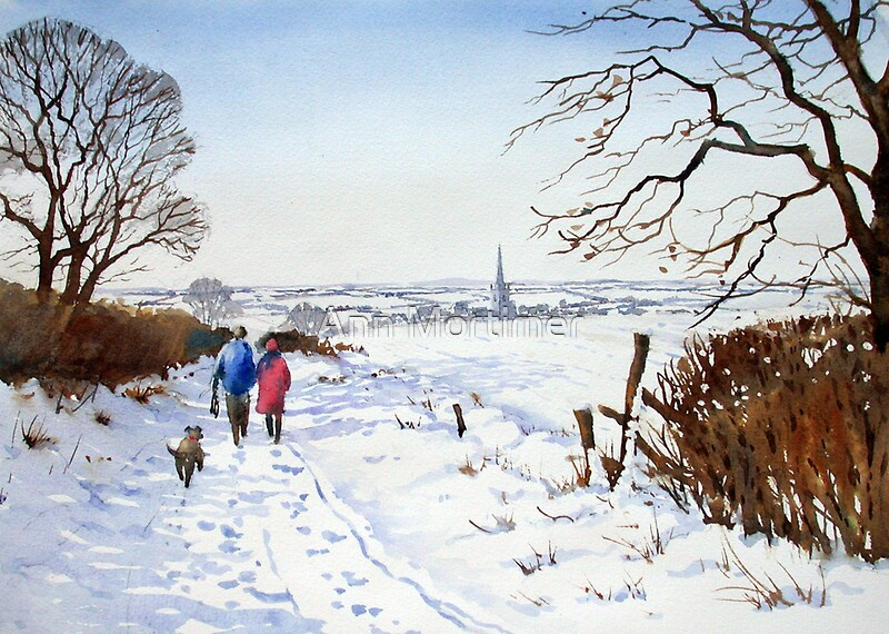 Quot Winter Walk Quot By Ann Mortimer Redbubble