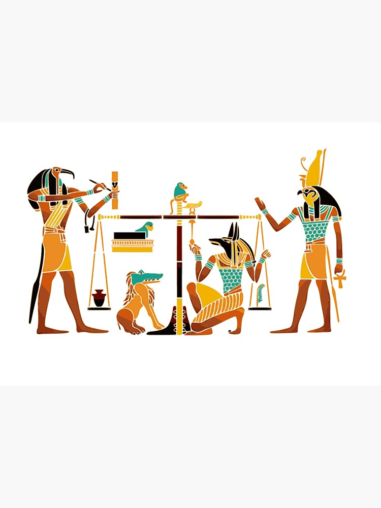WEIGHING THE SOUL. Egyptians. Egyptian. by TOMSREDBUBBLE