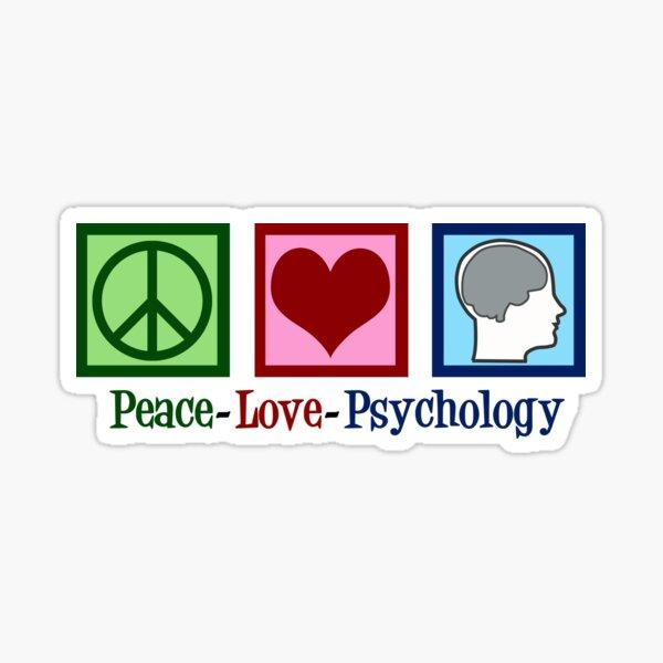 Peace Love Psychology Sticker