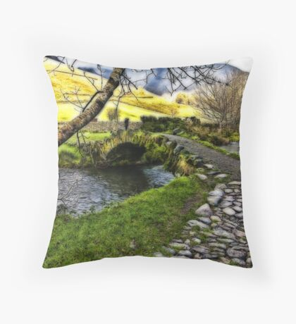 Bridge Approach  - Wasdale Head Throw Pillow