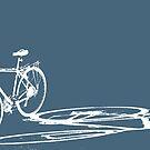 bike in shadow by bicyclegood