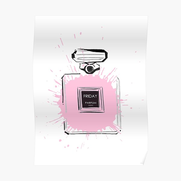 Pink Friday Perfume  Bottle Poster