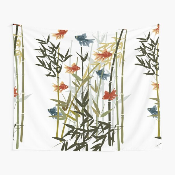 Fishes and bamboo Tapestry
