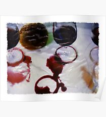 Red Wine Spill Poster