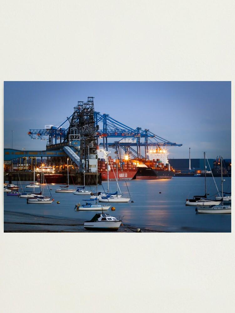 Alternate view of Tilbury Docks Imports Photographic Print