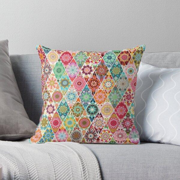 Diamond  quilt Throw Pillow
