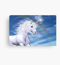 Over the Rainbow .. A Unicorn Tale Canvas Print