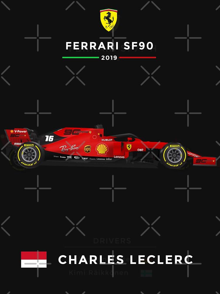 Ferrari SF90 - 2019 - 16 Leclerc by andreanastasio
