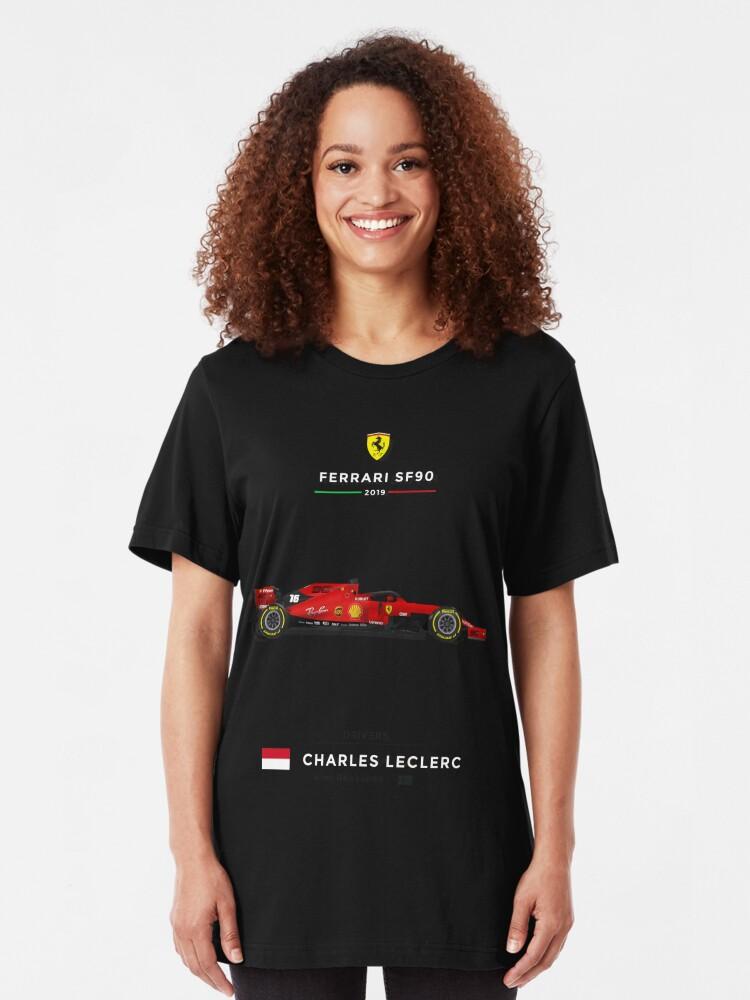 Alternate view of Ferrari SF90 - 2019 - 16 Leclerc Slim Fit T-Shirt