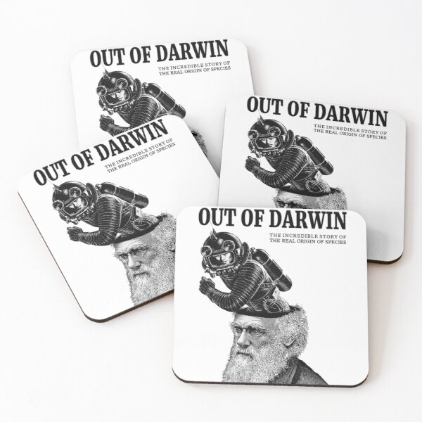 Getting the Hell out of Darwin Coasters (Set of 4)