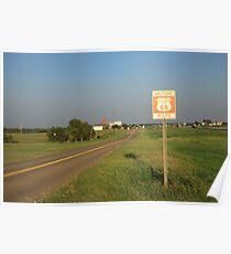 Route 66 - Oklahoma Poster