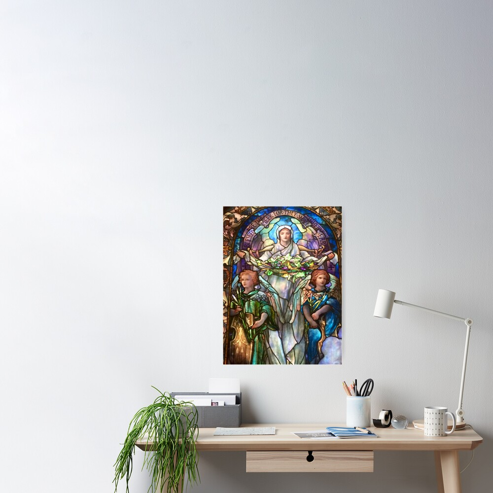Tiffany Stained Glass Windows: Angels Poster