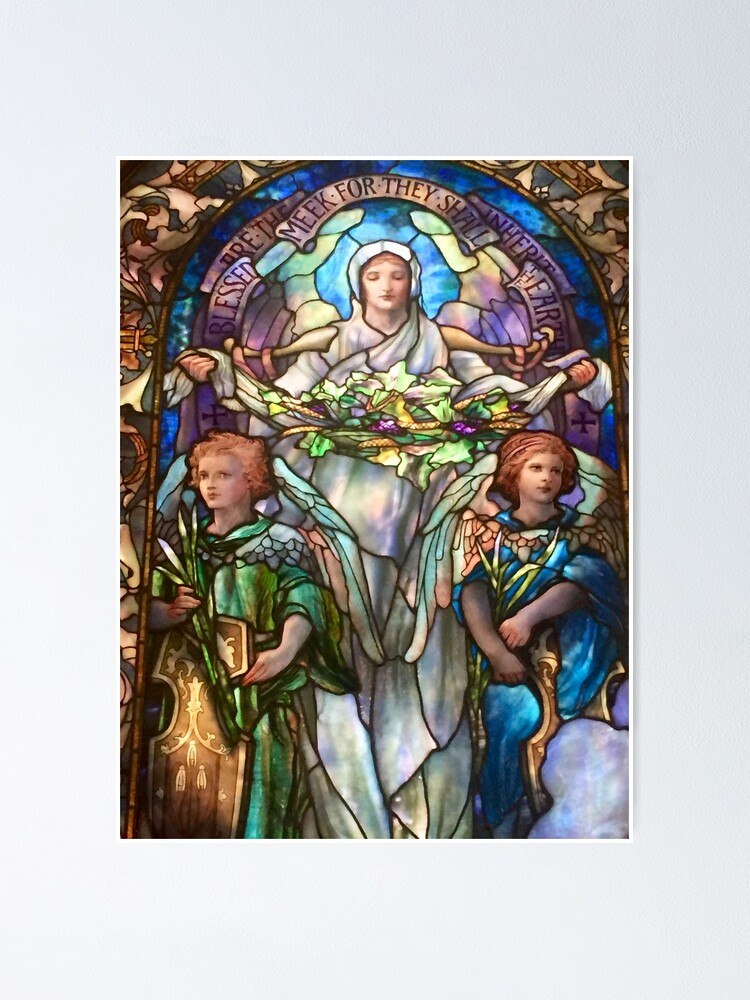 Alternate view of Tiffany Stained Glass Windows: Angels Poster
