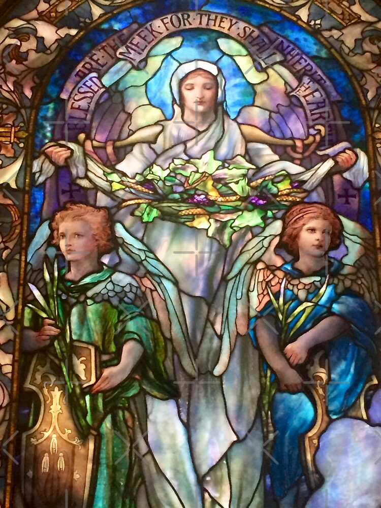 Tiffany Stained Glass Windows: Angels by Matlgirl