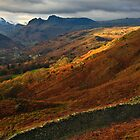 Traces of sunlight in the Langdale valley by Shaun Whiteman