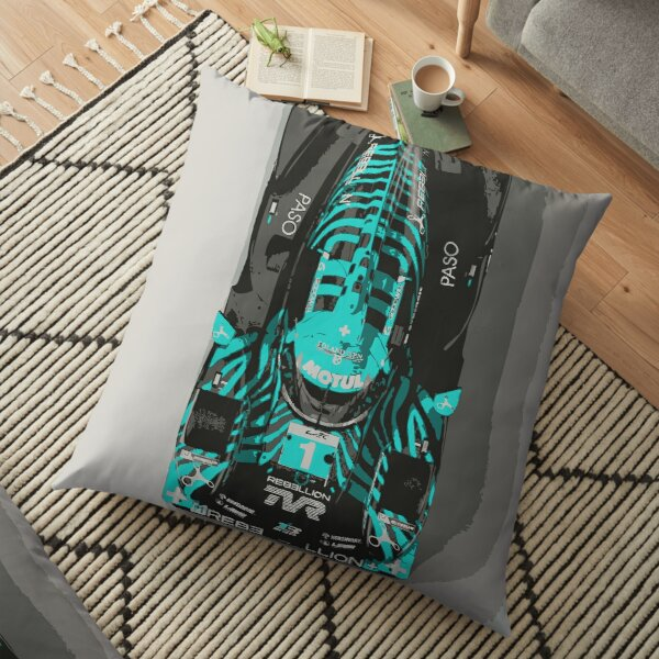 TVR Rebellion LMP Race Car Floor Pillow