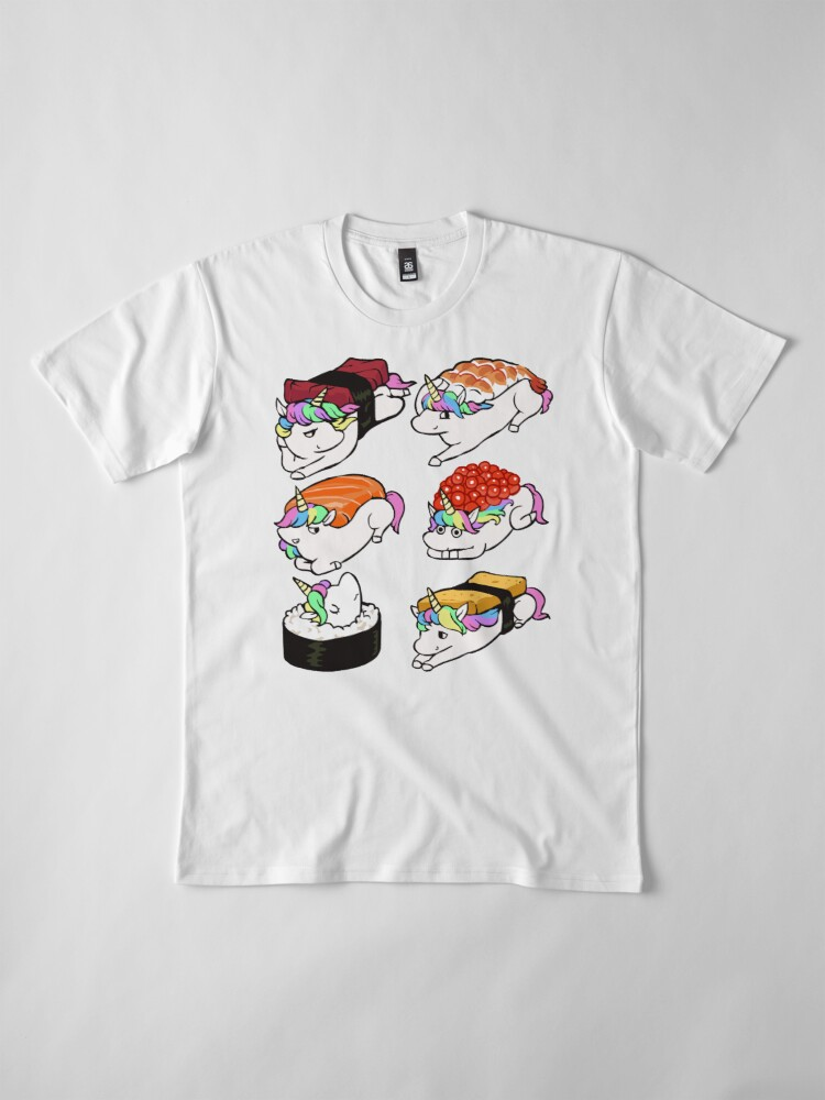 Alternate view of  Sushi Unicorn Premium T-Shirt