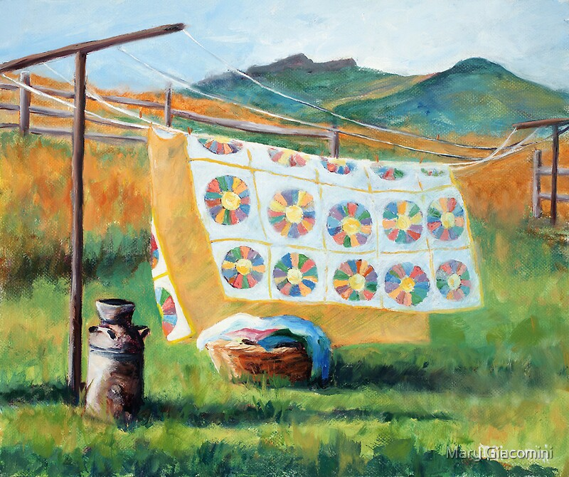 Fresh from the clothesline by mary giacomini redbubble - How to get exterior paint out of clothes ...