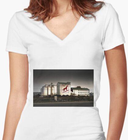Dingo Flour Mill - Fremantle Western Australia  Women's Fitted V-Neck T-Shirt