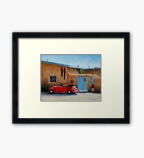 """""""Cool Ride"""" -Classic convertible red VW beetle ready for a ride Framed Print"""