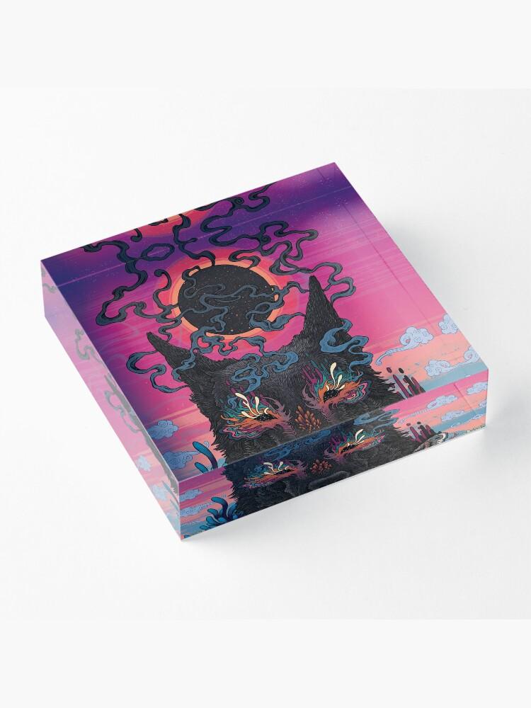 Alternate view of Black Eyed Dog Acrylic Block