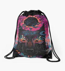 Black Eyed Dog Drawstring Bag